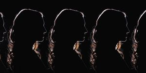 women in silhouette