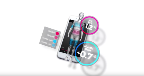 Magic Naked Mirror Tracks your Fitness and Body Weight