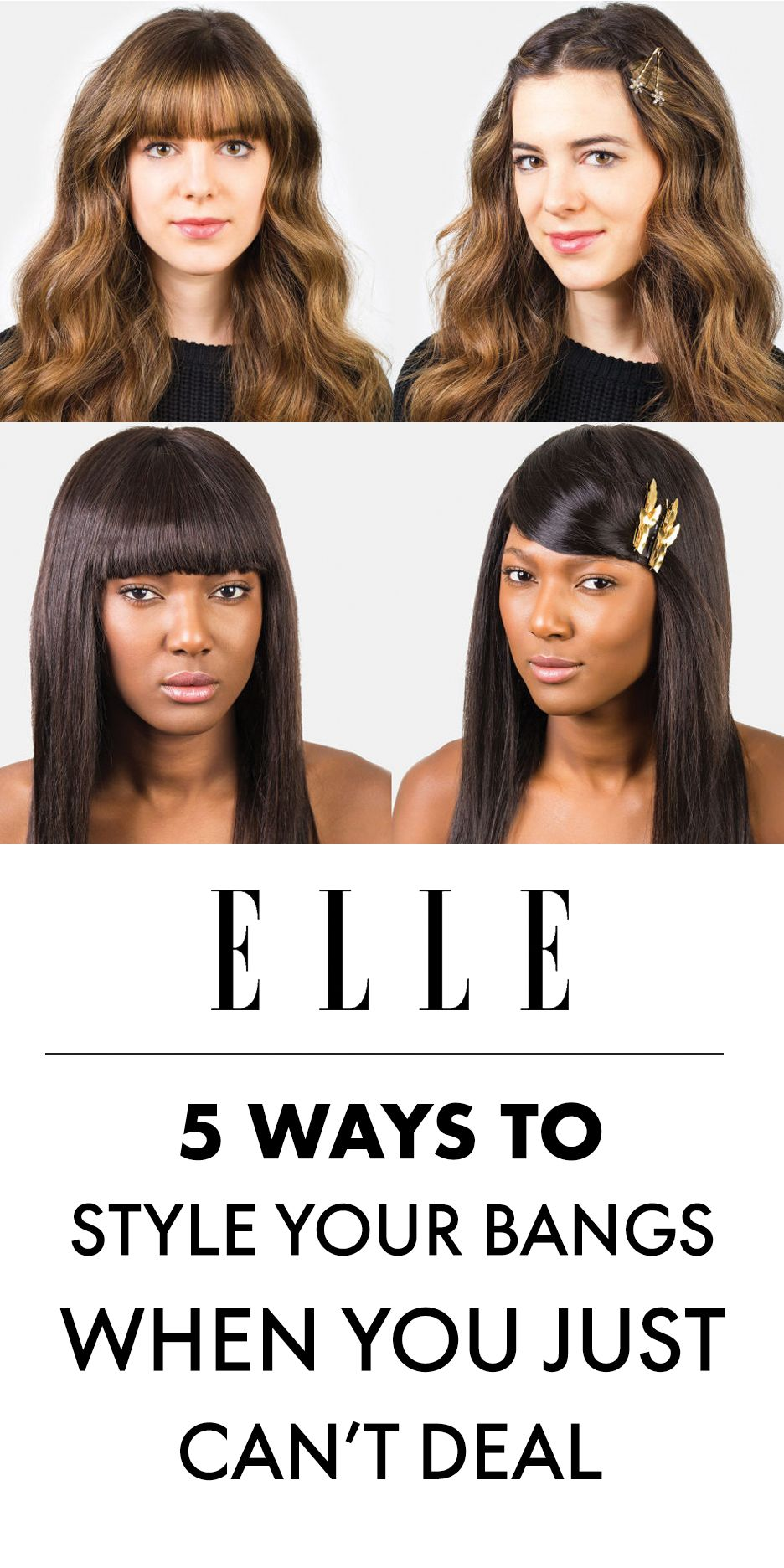 How to Style Bangs - 11 Hairstyles to Keep Your Bangs Out of Your Face