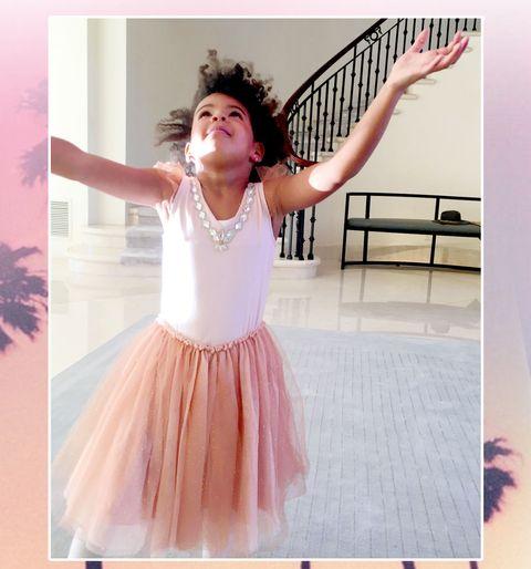 Hairstyle, Pink, Dress, Fashion, Pattern, Magenta, One-piece garment, Trunk, Dancer, Embellishment,