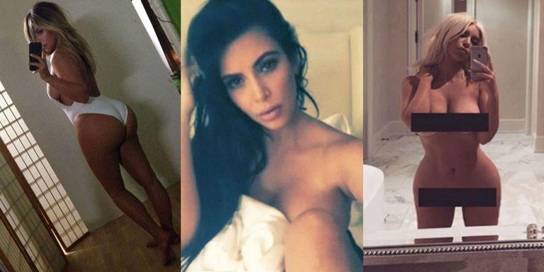 Kim Kardashians Naked Instagram Selfies - Kim Kardashian -1657