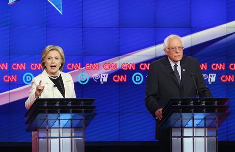 Hillary Clinton and Bernie Sanders debate in Brooklyn.
