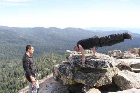 Rock, Bedrock, Outcrop, Mountain, Boulder, Adventure, Hiking, Chaparral, Balance,