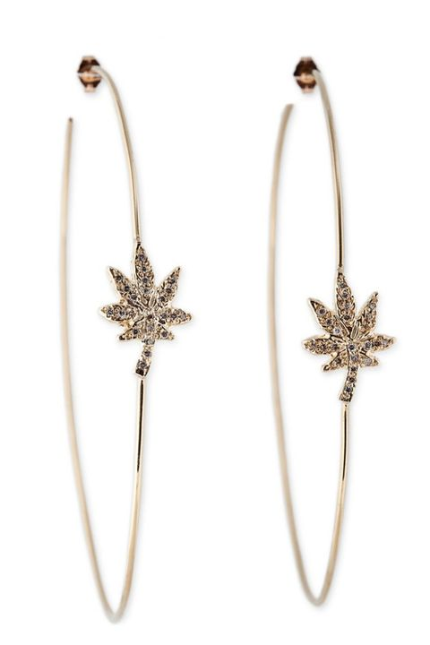 """<p>Jacquie Aiche Sweet Leaf Hoops, $5,000; <a href=""""http://jacquieaiche.com/products/sweet-leaf-hoops"""" target=""""_blank"""">jacquieaiche.com</a></p>"""