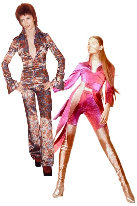 <p>The late <strong>David </strong><strong>Bowie </strong>kicked off the glam-rock era in 1972 when he adopted his flamboyant, gender-ambivalent alter ego, Ziggy Stardust, who gave rise to cross-dressing on and off the stage. For fall, <strong>Area</strong> designers Beckett Fogg and Piotrek Panszczyk's hypersexual offerings will help you channel your Jean Genie.</p>