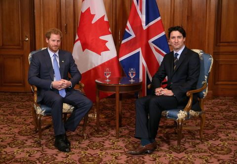 Canadian Prime Minister Justin Trudeau and Prince Harry