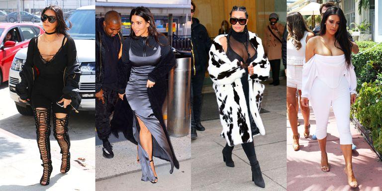 Kim Kardashian In Hoodie And Biker Shorts Kim Kardashian Fashion Photos