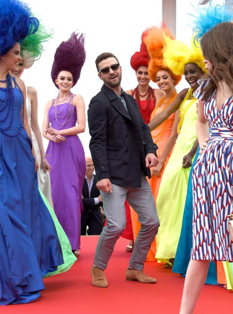 Blue, Yellow, Event, Green, Dress, Red, Style, Flooring, Formal wear, Wig,