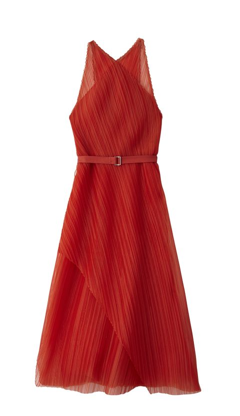<p>Belted organza dress, BOSS, $1,495, at Hugo Boss stores nationwide</p>