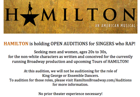 I Auditioned for \'Hamilton\' Part 1- How to Prepare for a Broadway ...