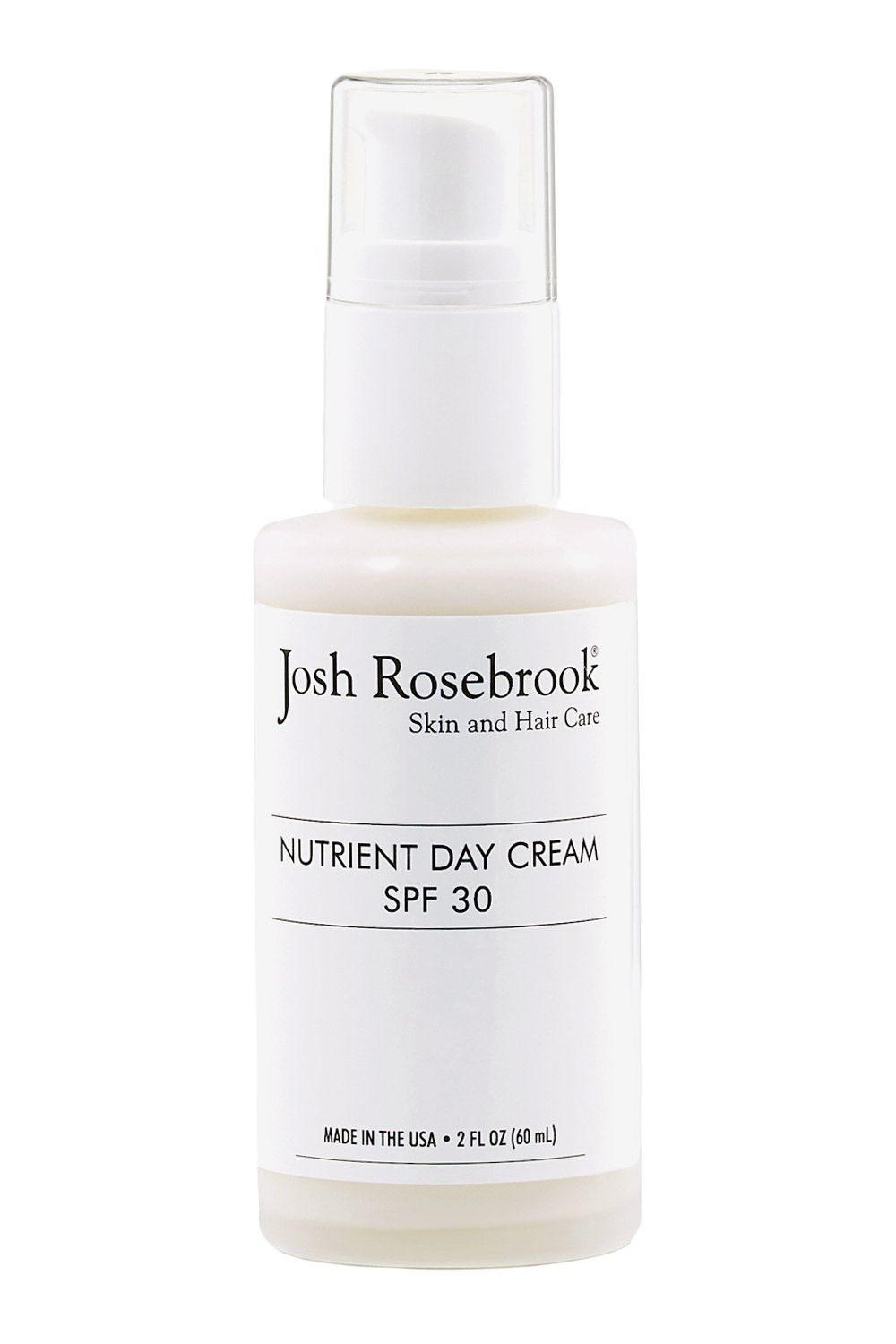 "<p><strong>Josh Rosebrook Nutrient Day Cream SPF 30</strong> is a natural blend that's formulated with tiny particles of UV-blocking mineral zinc<span class=""redactor-invisible-space"">, and a bevy of organic oils and botanicals. Bonus: It<span class=""redactor-invisible-space""> infuses skin with antioxidants and calming ingredients<span class=""redactor-invisible-space"">, and won't leave a telltale white ""ghosting"" effect behind. </span></span></span><em>$85, <a href=""http://joshrosebrook.com/products/nutrient-day-cream-with-spf-30-non-nano-zinc-oxide?variant=733457109"" target=""_blank"">joshrosebrook.com</a></em></p>"