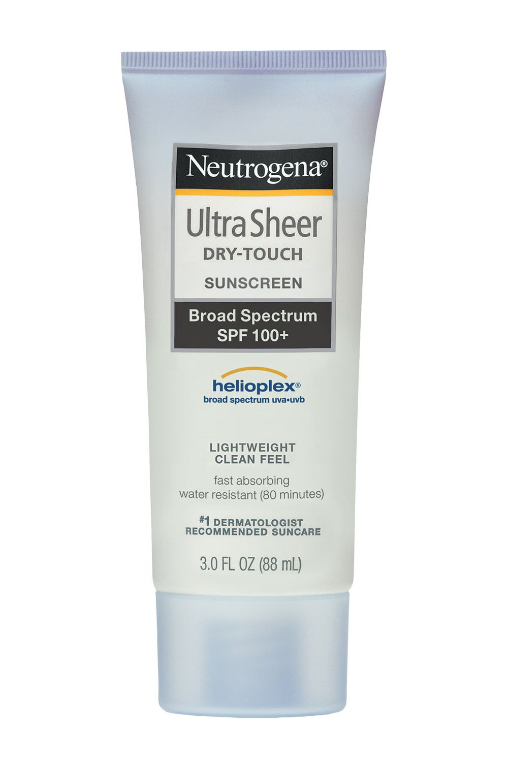 "<p>Water-resistant <strong>Neutrogena Ultra Sheer Dry-Touch Sunscreen Broad Spectrum SPF 100+</strong><strong></strong> is a no-brainer for the beach bag. And the non-shiny, dry finish makes it comfortable to wear. Remember the cardinal rule: Use a shot glass-worth of sunscreen to cover your entire body. <em>$12, <a href=""http://www.neutrogena.com/product/ultra+sheer-+dry-touch+sunscreen+broad+spectrum+spf+100-.do?sortby=ourPicks"" target=""_blank"">neutrogena.com</a></em></p>"