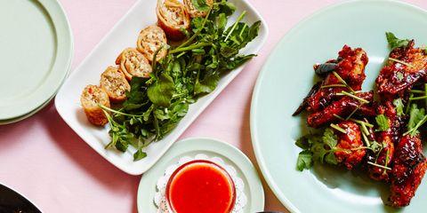 Food, Cuisine, Ingredient, Dishware, Dish, Plate, Tableware, Serveware, Leaf vegetable, Produce,