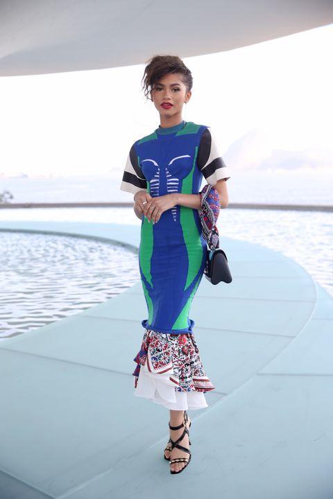 Shoulder, Joint, Sandal, Aqua, Street fashion, One-piece garment, Day dress, Ankle, Fashion design,