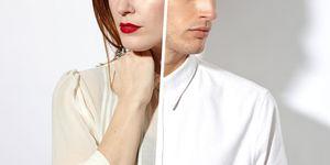 man-woman split