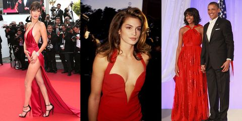 31 Iconic Red-Dress Moments