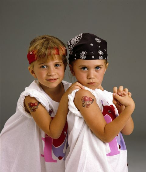 <p>When they got tatted up on <em>Full House</em>. </p>