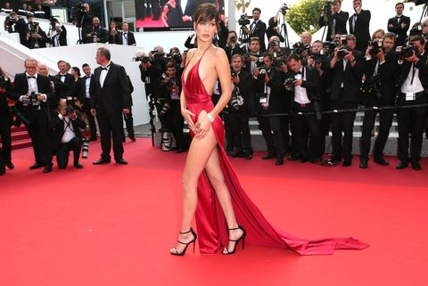 "<p>Granted, it was only two weeks ago, but we're <em>still</em> thinking about the red dress ELLE's  June 2016 cover star wore at the Cannes Film Festival.  It's silk, it's Alexandre Vauthier<span class=""redactor-invisible-space"">, and it laughs in the face of wardrobe malfunctions.</span></p>"