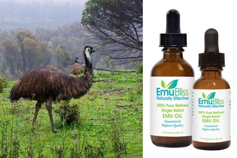 "<p><strong>Ingredient: </strong>Emu Oil (which is exactly what it sounds like...)</p><p><strong>Product: </strong><span class=""redactor-invisible-space"" style=""line-height: 1.6em; background-color: initial;""><a href=""http://emujoy.com/"" target=""_blank"">Emu Bliss oil, $20</a></span><br></p><p><span class=""redactor-invisible-space""><strong>Claim: </strong>According to my Aussie pharmacist, it reduces swelling and minor infections. <br><strong>Result: </strong><span class=""redactor-invisible-space""></span></span>Shrunk an angry airplane zit, and helped nix some bikini-line bumps.  One caveat: like many herbal oils, this has a strong, sharp smell.</p>"
