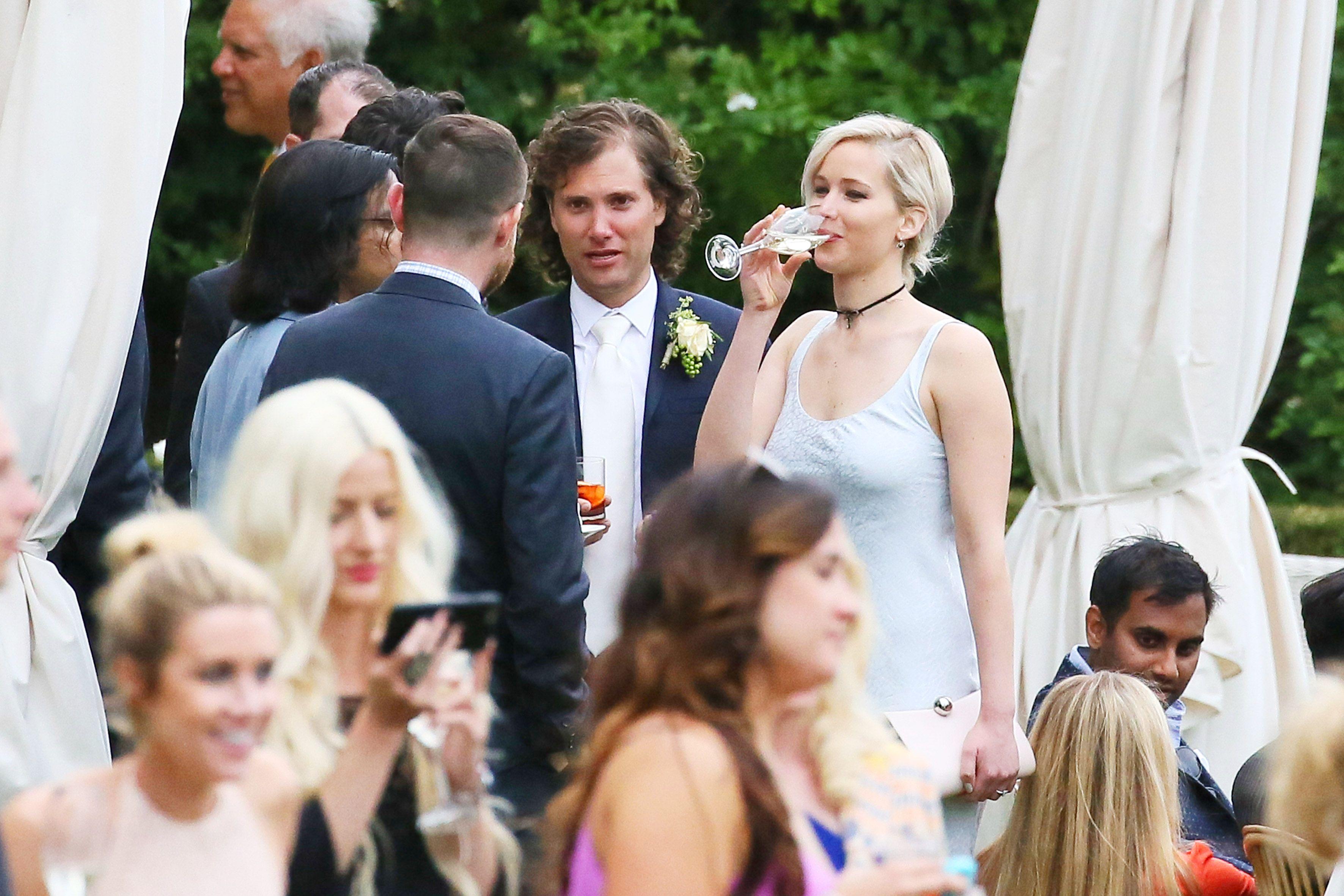 Jennifer Lawrence Attends Italy Wedding - Jennifer Lawrence