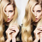 Hair, Blond, Face, Skin, Hairstyle, Beauty, Hair coloring, Lip, Eyebrow, Long hair,