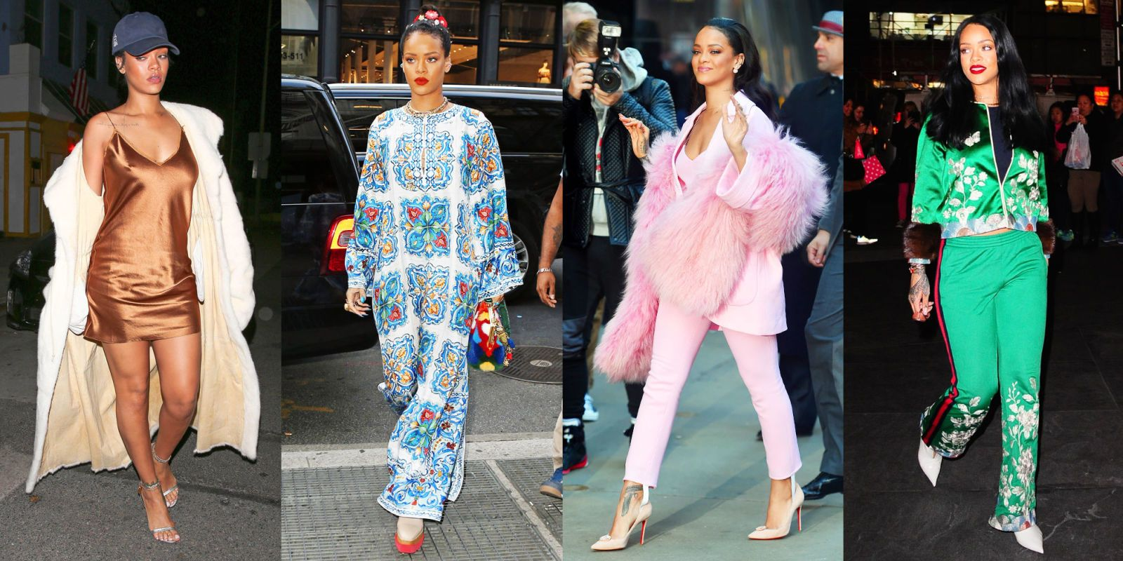 Rihanna in Blue Tulle Molly Goddard Gown , Rihanna Fashion