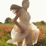 Dress, People in nature, Summer, Field, Beauty, Sunlight, Meadow, Agriculture, Gown, Grassland,