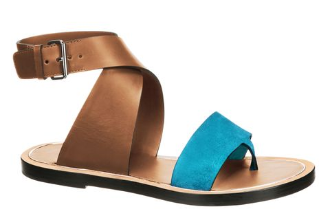 <p>Leather and suede sandal, VINCE, $295, collection at nordstrom.com</p>