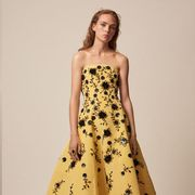 Clothing, Dress, Sleeve, Green, Shoulder, Pattern, Textile, Formal wear, Style, Waist,