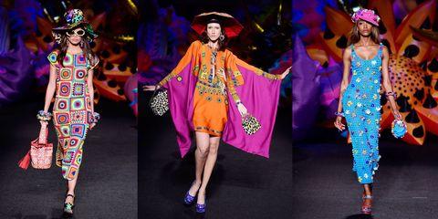 Footwear, Hat, Event, Entertainment, Performing arts, Style, Costume design, Purple, Headgear, Costume accessory,