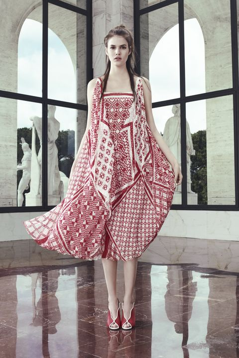 Dress, One-piece garment, Style, Fashion model, Pattern, Fashion, Street fashion, Fixture, Day dress, Model,