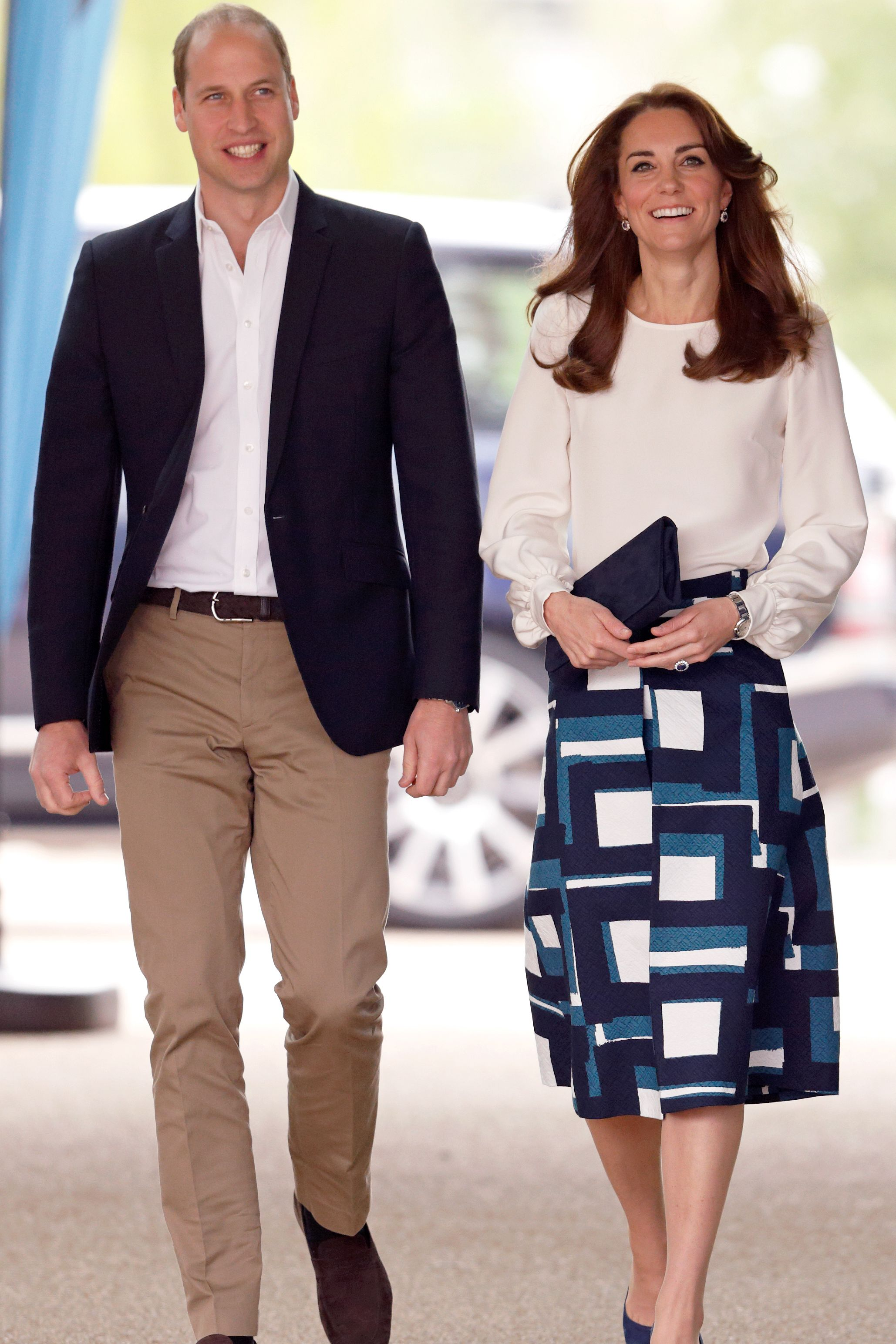 Catherine, Duchess of Cambridge, wearing casual clothes.