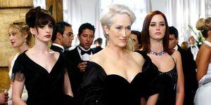 Anne Hathaway, Meryl Streep, and Emily Blunt in 'The Devil Wears Prada'
