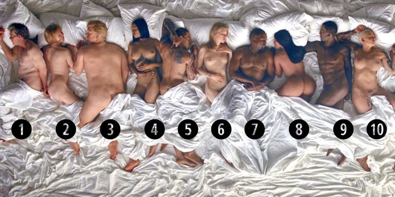 13 Naked Celebrities In Kanyes Famous Video - Guide To -4169