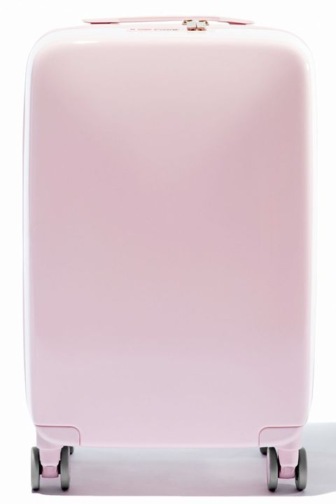 "<p>Consider all of your worries about losing your suitcase or having it turned away by security resolved by Raden, a new luggage company that has thought of everything. This sleek case weighs itself, locates itself with GPS, is 100% TSA-approved, <em></em>and comes in an array of shades including an eye-catching bubblegum pink. It's everything you didn't know you needed, but immediately must have.</p><p><em>Raden The A22 Carry, $295; </em><a href=""https://www.raden.com/products/a22-carry?color=light-pink&finish=gloss"" target=""_blank""><em>raden.com</em></a></p>"