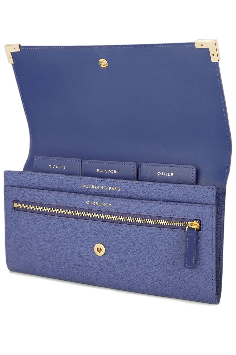 "<p>Regular sized passport holders never make sense—where are you supposed to tuck away that flimsy boarding pass? Instead, go for an oversized <span class=""highlight"">travel</span> wallet like this one by Smythson. It includes tabs that organize your tickets, documents, and dinero. </p><p><em>Smythson Grosvenor Corners Marshall <span class=""highlight"">Travel</span> Wallet, $405; </em><a href=""http://www.smythson.com/us/dawn-blue-grosvenor-corners-marshall-travel-wallet.html"" target=""_blank""><em>smythson.com</em></a></p>"