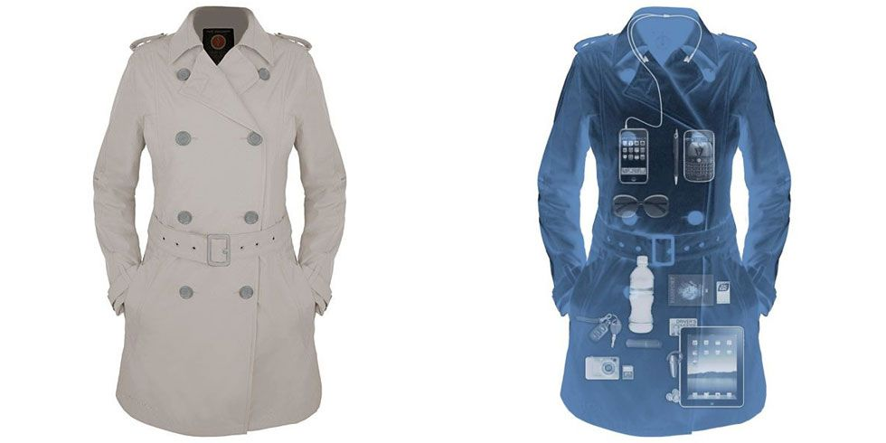 "<p>This water-resistant, stain-proof coat has a total of 18—yes 18<i>—</i>pockets for all of your essentials. There's room for your iPad, Tom Ford lipstick, Tom Ford sunglasses, Tom Ford wallet, Tom Ford <em>everything</em> (necessary for <span class=""highlight"" style=""line-height: 1.6em; background-color: initial;"">travel</span>ing, obv). It also has RFID security to protect you from credit card scammers. The classic trench silhouette is just the cherry on top. </p><p><em>Scottevest Trench, $150; </em><a href=""http://www.travelsmith.com/scottevest-women27s-trench/829156?SourceCode=EE900003&cm_mmc=ComparisonShopping-_-GooglePLA-_-NA-_-NA&CAWELAID=120245410000027273&CAGPSPN=pla&CAAGID=10252177068&CATCI=pla-18283950120&catargetid=120245410000033539&cadevice=c&gclid=CNDOyZ6xus0CFVUkgQodQtwE9Q"" target=""_blank""><em><span class=""highlight"">travel</span>smith.com</em></a></p>"