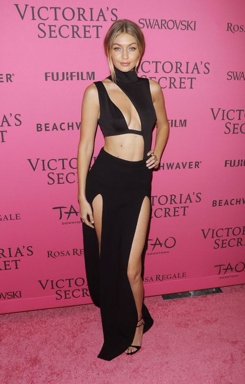 2b97fbce89f0 Gigi Hadid Wears a House of CB Bodysuit to the 2015 Victoria s Secret Show  After Party.