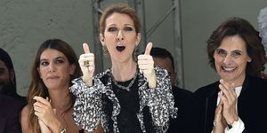 Celine Dion front row at Giambattista Valli Couture Show
