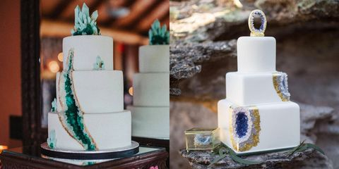 The Geode Wedding Cake Trend Is Delightful