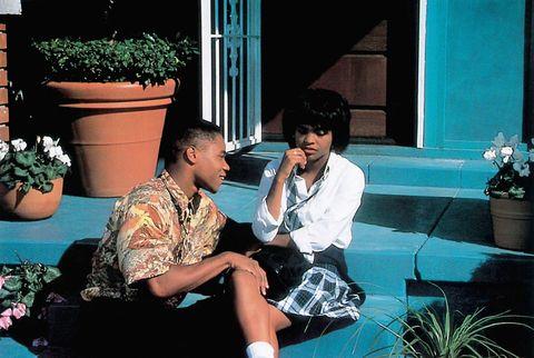 Cuba Gooding Jr and Nia Long in Boyz n the Hood