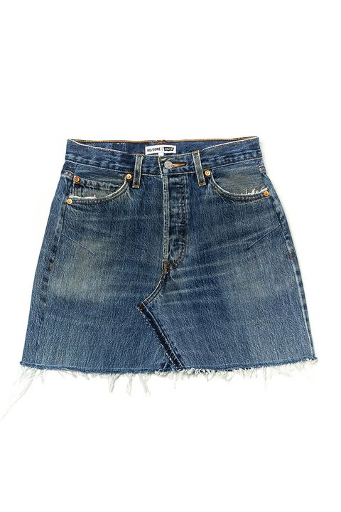 07f9898af2 M.I.H Jeans Chevron Suede Mini Skirt, $541; matchesfashion.com. image