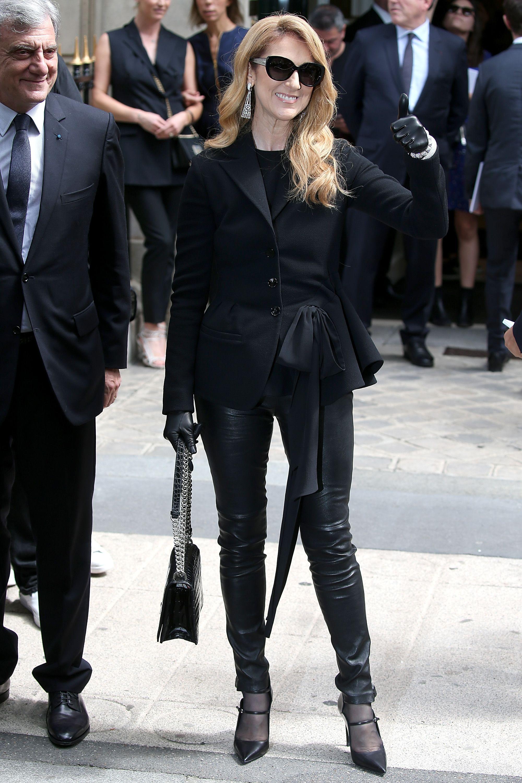 Celine Dion wears head to toe Dior