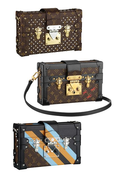 "<p><strong>Designer: </strong>Louis Vuitton</p><p><strong>Style: </strong>The<strong> </strong>Petite Malle</p><p><strong>Introduced in: </strong>Fall 2014 <strong></strong></p><p><strong>Why <strong>it's worth investing in</strong>: </strong>Nicholas Ghesquiere's first collection with Louis Vuitton in 2014 was a critical and commercial victory, introducing this timeless clutch to the world. The Petite Malle—which translates to ""little trunk""—varies in color and fabric to match the season, but typically features crosses, a signature of Albert Kahn who was a revered world traveler and industrial architect. How this didn't exist before 2014, we don't know, but we can imagine living without. <em></em></p><p><a href=""http://us.louisvuitton.com/eng-us/homepage"" target=""_blank""><i>The Petite Malle retails between 5,200 - $43,000</i></a><i></i></p>"