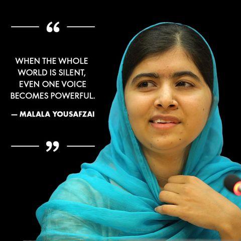 Birthday Girl Malala Yousafzais 19 Most Inspiring Quotes Happy