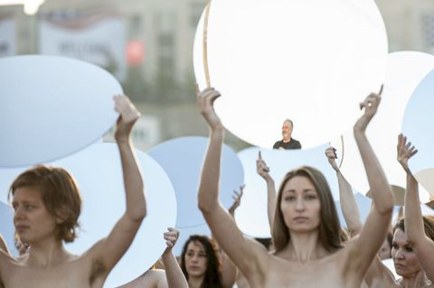 100 Naked Women Just Greeted Donald Trump at the Republican National Convention