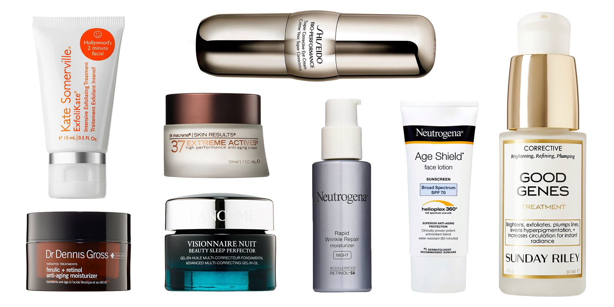 Top facial products for anti aging