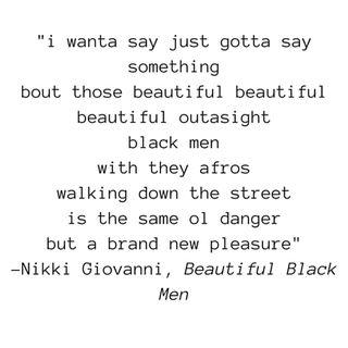 beautiful black men nikki giovanni
