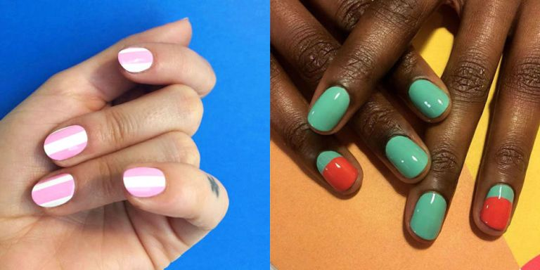 Short nails, don't care. - Best Nail Art For Short Nails - 15 Short Nail Art Designs