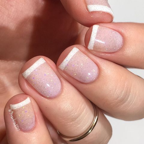 <p>A french tip is not just for long nails. Update the style - Best Nail Art For Short Nails - 15 Short Nail Art Designs